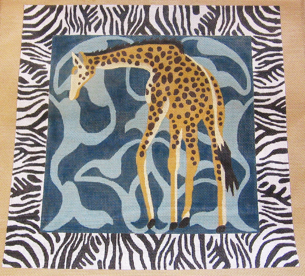 Needlepoint Giraffe Canvas