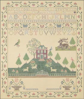 Needlepoint Stag / Well / House Sampler Canvas