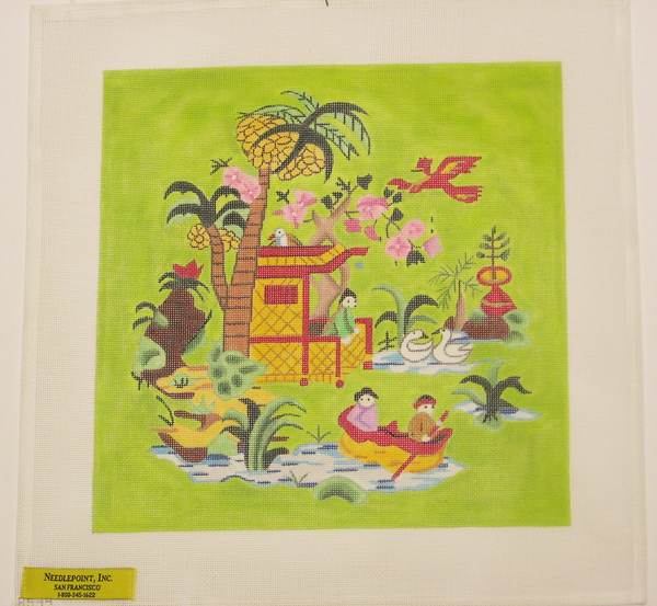 Needlepoint Chinoiserie Canvas