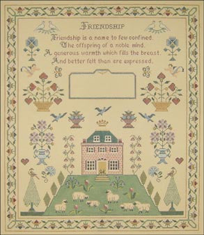 Needlepoint Friendship Sampler Canvas