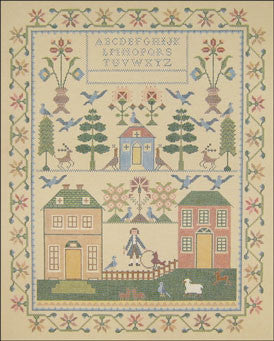 Needlepoint Neighbors Sampler Canvas