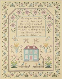 Needlepoint Serenity Sampler Canvas