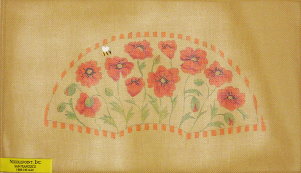Needlepoint Poppies Canvas