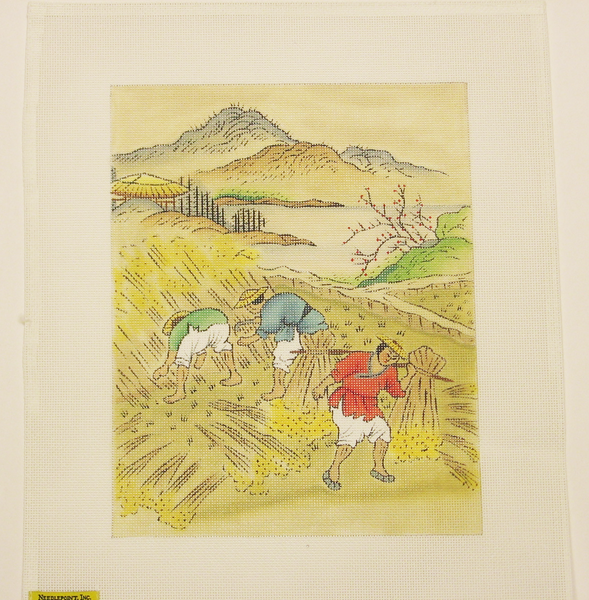 Needlepoint Chinese Farmer Canvas