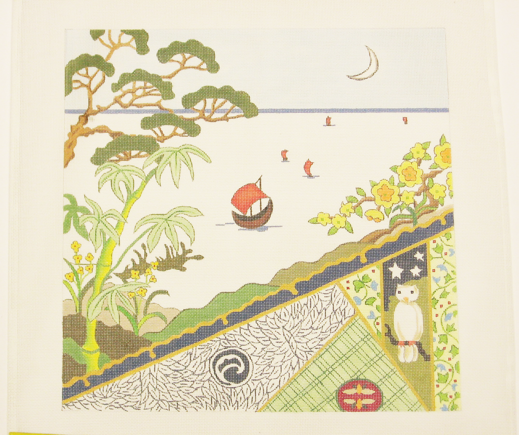Needlepoint Japanese Textile Canvas