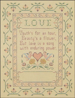 Needlepoint Love Sampler Canvas