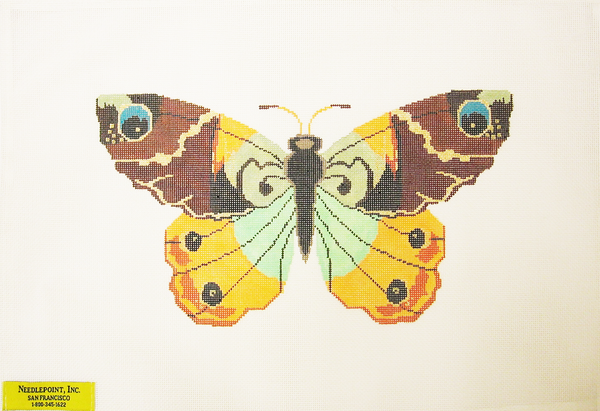 Needlepoint Colorful Butterfly Canvas