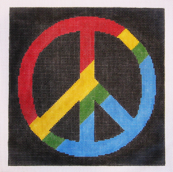 Needlepoint Peace Sign Canvas