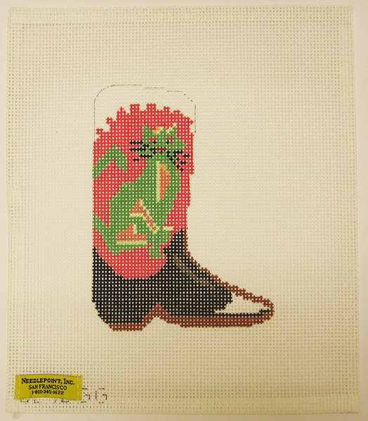 Needlepoint Cowboy Boot Canvas