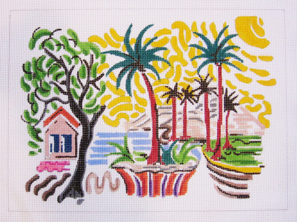 Needlepoint Tropical Place Canvas