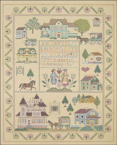 "Needlepoint Victorian Sampler 17""x 14"" Canvas"