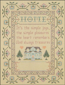"Needlepoint Home Sampler 8.5""x 11.5"" Canvas"