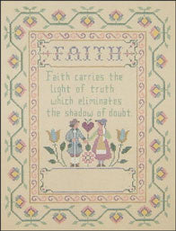 "Needlepoint Faith Sampler 8.5"" x 11.5"" Canvas"