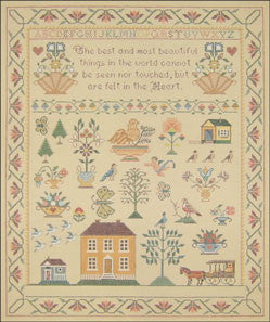 "Needlepoint Little Carriage Sampler 15"" x 18"" Canvas"