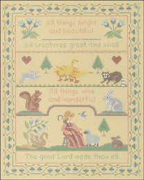 "Needlepoint Bright and Beautiful Sampler 10"" x 13"" Canvas"