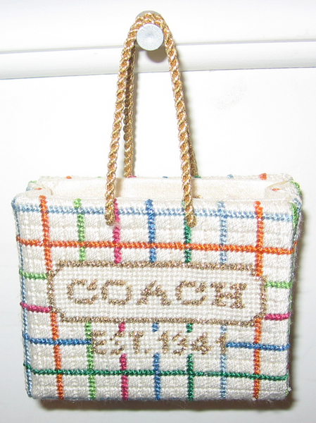 Coach Shopping Bag Ornament