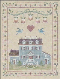 "Needlepoint Country Home 5"" x 7"" 18m $ 130_ Canvas"