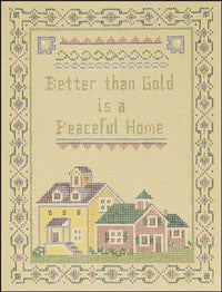 "Needlepoint Peaceful Home Sampler 6"" x 8"" 18m $ 130_ Canvas"