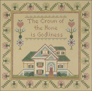 "Needlepoint The Crown Of The Home Sampler 8"" x 8"" 18m $ 190_ Canvas"