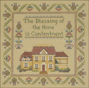 "Needlepoint Blessings / Contentment 8"" x 8"" 18m $ 190 Canvas"