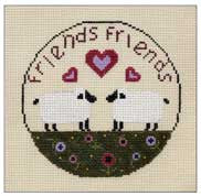 Needlepoint Two Friends 4.5Ó Circle $ 30_ Canvas