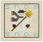 Needlepoint Snow 3Óx3Ó $35_ Canvas