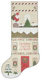 Needlepoint KristaÍs Christmas Sox 4îx13î $ 150_ Canvas