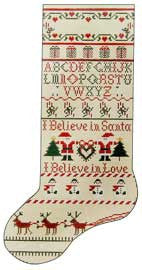 Needlepoint Hana Christmas Sox 6.75îx13î $ 150_ Canvas