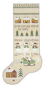 Needlepoint StefanÍs Christmas Sox 5.5îx16î $ 195_ Canvas