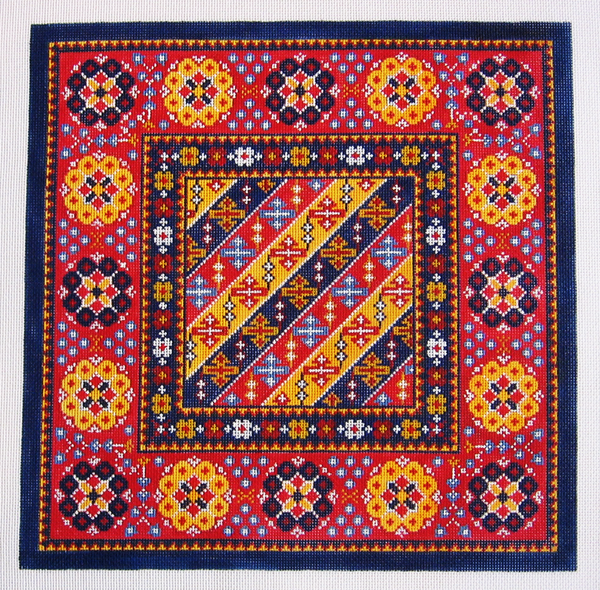 Needlepoint African Textile Canvas