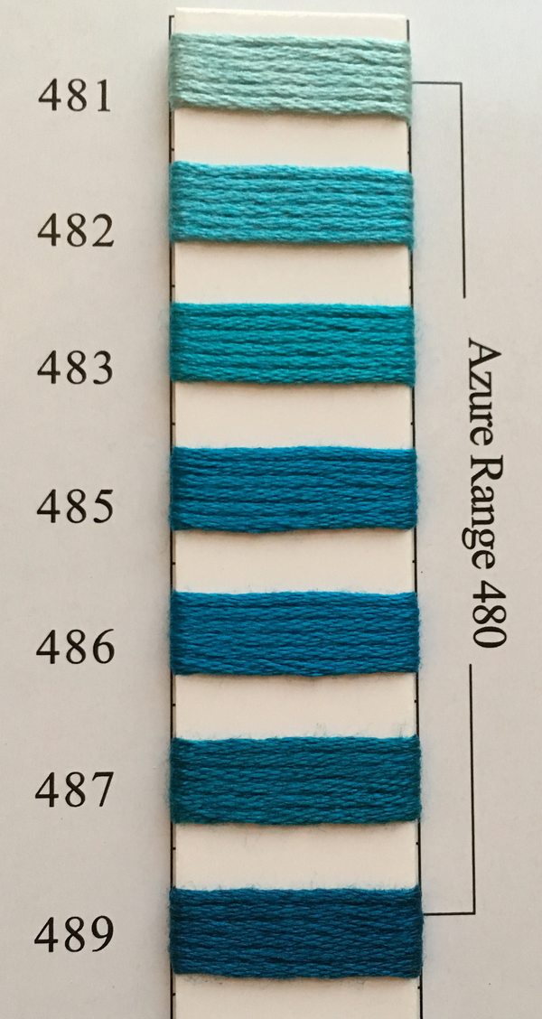 Needlepoint Inc Silk Thread Azure Range 480