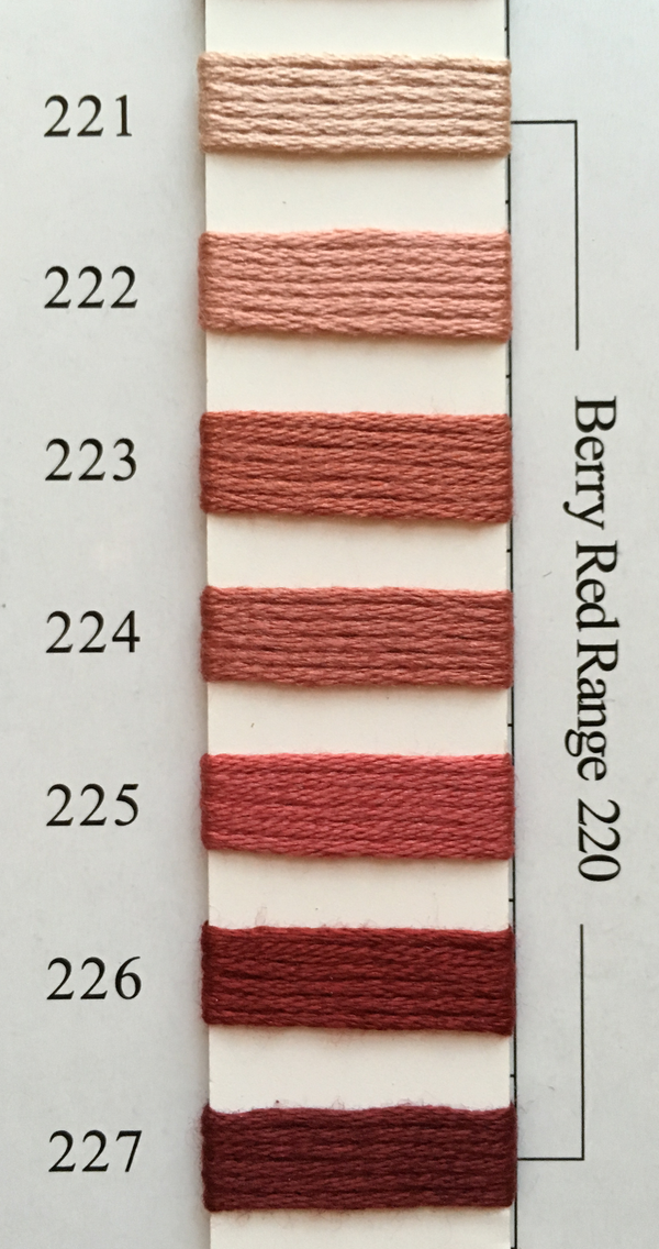 Needlepoint Inc Silk Thread Berry Red Range 220