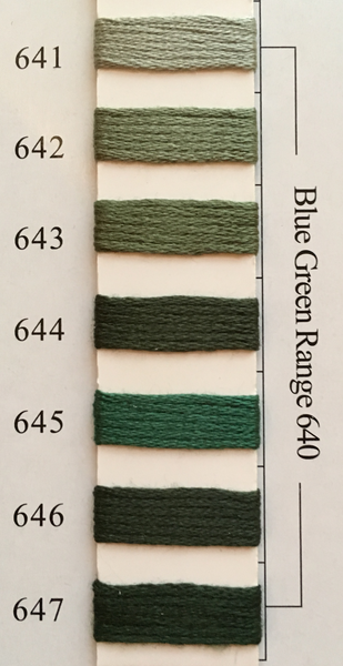 Needlepoint Inc Silk Thread Blue Green Range 640