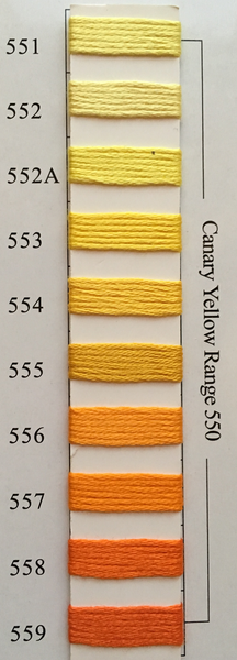 Needlepoint Inc Silk Thread Canary Yellow Range 550