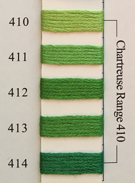 Needlepoint Inc Silk Thread Chartreuse Range 410