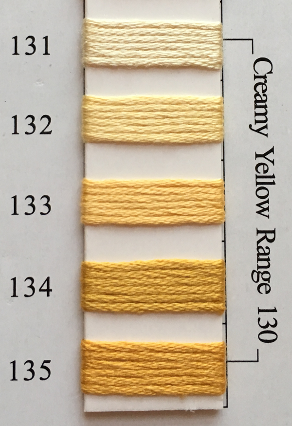 Needlepoint Inc Silk Thread Creamy Yellow Range 130
