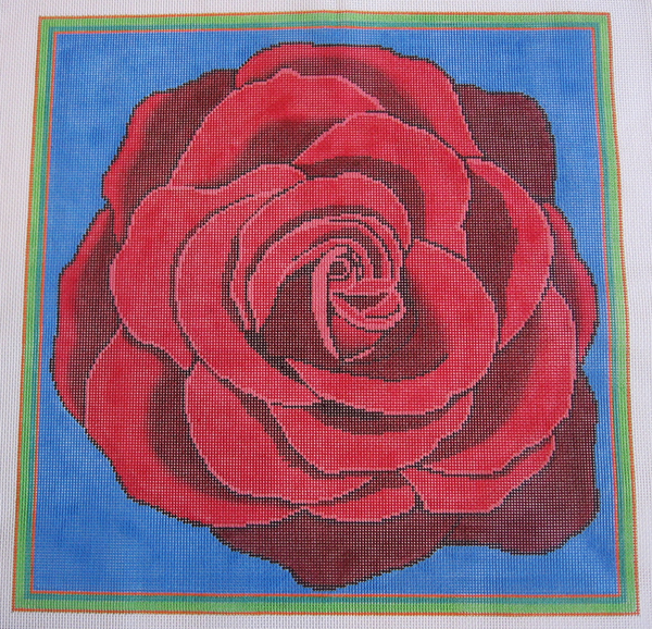 Needlepoint Rose Canvas