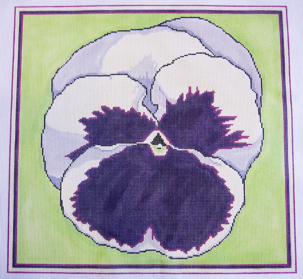 Needlepoint Pansy Canvas