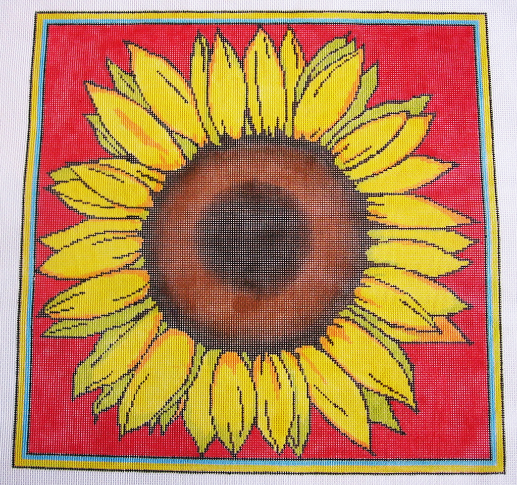 Needlepoint Sunflower Canvas