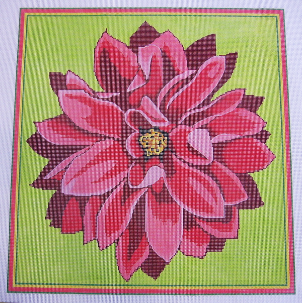 Needlepoint Dahlia Canvas