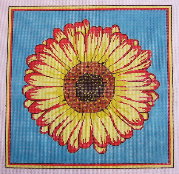 Needlepoint Gerber Daisy Canvas