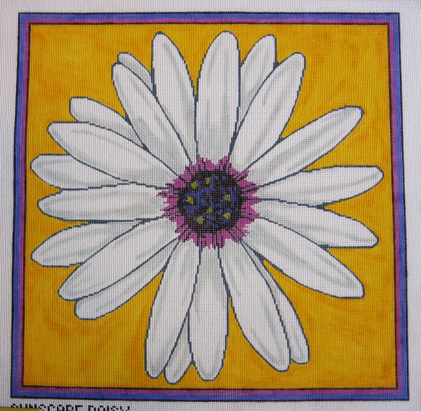 Needlepoint Sunscape Daisy Canvas