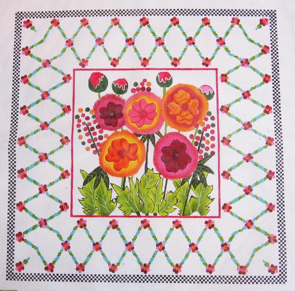 Needlepoint Dahlias Canvas