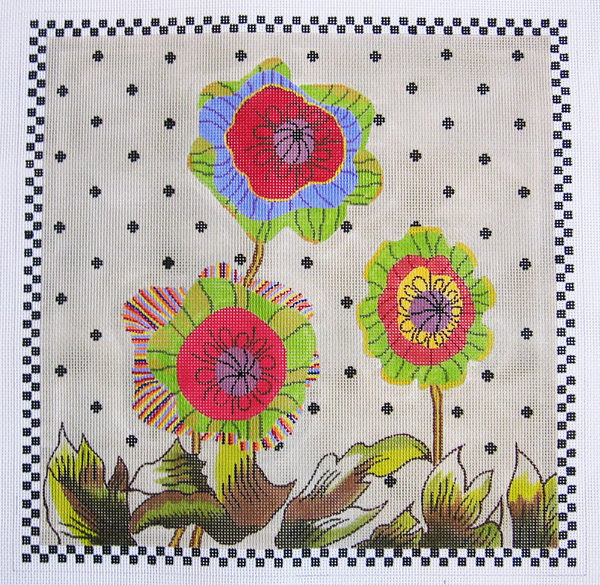 Needlepoint Happy Flowers Canvas