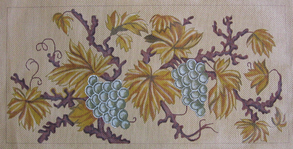 Needlepoint Grape Leaves Canvas