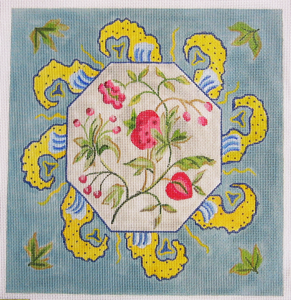 Needlepoint Strawberry Floral Canvas