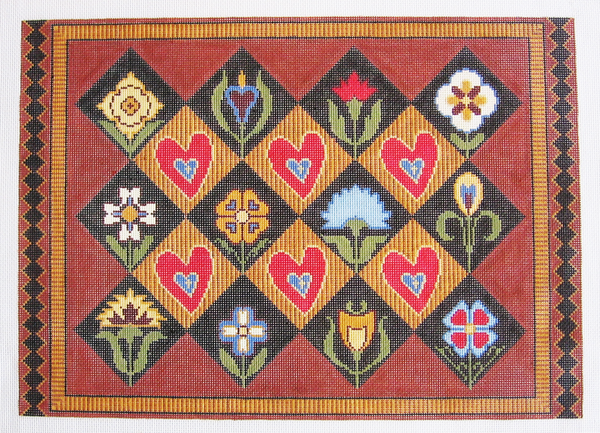 Needlepoint Folk Art Canvas