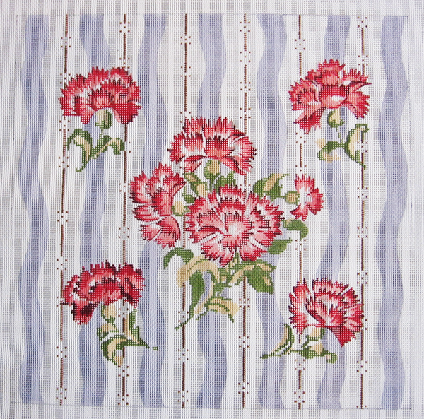 Needlepoint Carnations Canvas