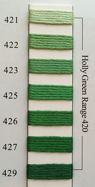 Needlepoint Inc Silk Thread Holly Green Range 420