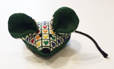 Mouse with Colorful Hearts